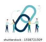 vector illustration  handshake...   Shutterstock .eps vector #1538721509