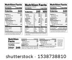 nutrition facts label. vector.... | Shutterstock .eps vector #1538738810