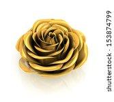 Golden Rose 3d