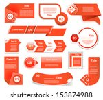 set of red vector progress ... | Shutterstock .eps vector #153874988