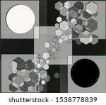 black bokeh. gradient. colored... | Shutterstock . vector #1538778839