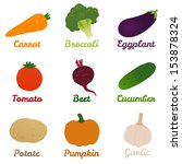 vegetables | Shutterstock .eps vector #153878324