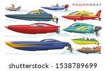 power boat vector speedboat... | Shutterstock .eps vector #1538789699
