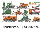 city cleaning machine vector... | Shutterstock .eps vector #1538789726
