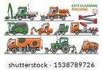 city cleaning machine vector... | Shutterstock .eps vector #1538789726