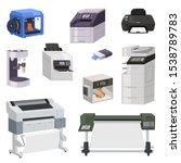 printer vector print machine... | Shutterstock .eps vector #1538789783