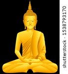 Thai Golden Buddha Statue ...