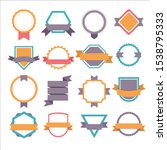 vector badge  labels and ribbons | Shutterstock .eps vector #1538795333