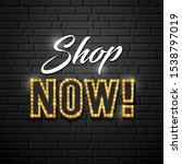 shop now message vector gold...   Shutterstock .eps vector #1538797019
