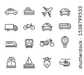 set of transportation icon with ...   Shutterstock .eps vector #1538799533