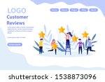customer reviews  giving... | Shutterstock .eps vector #1538873096