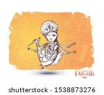hindu god laxmi with text of... | Shutterstock .eps vector #1538873276