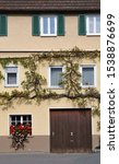 Facade Of Old House In German...