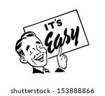 sign man   retro clip art... | Shutterstock .eps vector #153888866