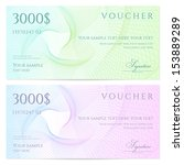gift certificate  voucher ... | Shutterstock .eps vector #153889289
