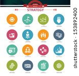 strategy business concept icons ... | Shutterstock .eps vector #153892400