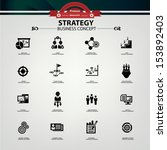 Strategy business concept icons,Black version,vector