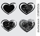 grunge harts   Shutterstock .eps vector #153892526
