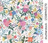 modern hand drawn floral... | Shutterstock .eps vector #1538945270
