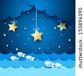seascape  fantasy illustration. ...