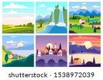 calendar set landscape spring ... | Shutterstock .eps vector #1538972039