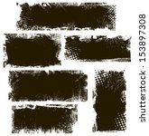 grunge backgrounds vector...   Shutterstock .eps vector #153897308