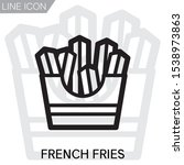 french fries icon symbol design....