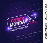 cyber monday sale banner... | Shutterstock .eps vector #1538978156
