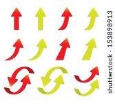 popular arrow sticker set pack... | Shutterstock . vector #153898913