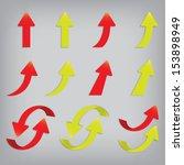 popular arrow sticker set pack... | Shutterstock . vector #153898949