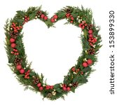 Christmas Heart Wreath With Re...
