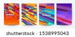 set of abstract colorful flying ... | Shutterstock .eps vector #1538995043