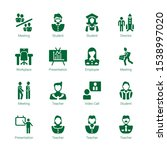 seminar icons. editable 16...   Shutterstock .eps vector #1538997020
