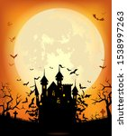 halloween background with the... | Shutterstock .eps vector #1538997263