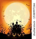 halloween background with the... | Shutterstock .eps vector #1538997266