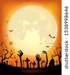 halloween background for a... | Shutterstock .eps vector #1538998646