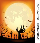 halloween background for a... | Shutterstock .eps vector #1538998649