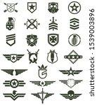 military army design symbol set | Shutterstock .eps vector #1539003896