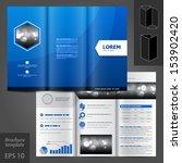 vector blue brochure template... | Shutterstock .eps vector #153902420