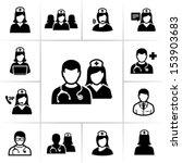 nurses icons | Shutterstock .eps vector #153903683
