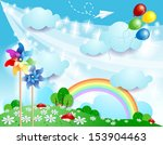 spring background  vector   Shutterstock .eps vector #153904463