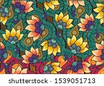 indonesian batik motifs with... | Shutterstock .eps vector #1539051713