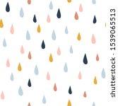 Various Raindrops. Kids Drawing ...