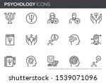 psychology vector line icons...   Shutterstock .eps vector #1539071096