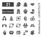 relationship icon set....   Shutterstock .eps vector #1539075173