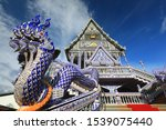 Blue Chapel  Wat Pak Nam Khaem...