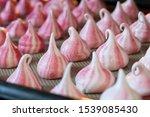Small photo of Meringue Kisses, Sweet Meringue Candy