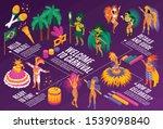 brazilian carnival isometric... | Shutterstock .eps vector #1539098840
