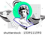 bright vector collage of... | Shutterstock .eps vector #1539111593