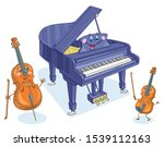 Musical Instruments. Cheerful...